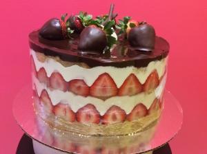 Vanilla Bavarian Berry Torte