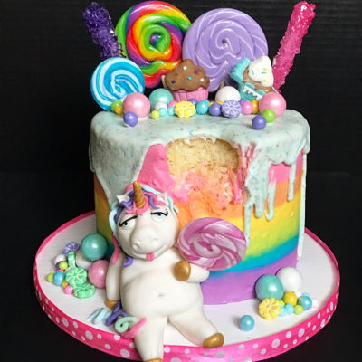 FAT Unicorn Cake Party for Mommy & ME! - Baking Classes Southfield Michigan | Cake Crumbs - unicorncake